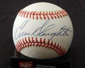 Enos Slaughter signed baseball / JSA cert
