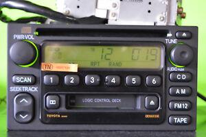 98-01 Toyota Camry 4Runner factory disc CD cass player radio AD6803 86120-08111