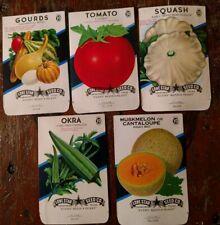 Unused seed packets package ORIGINAL 1957-66 SAN ANTONIO TEXAS S03 Fruits veggie