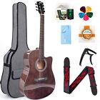 Acoustic Guitar 41 inch Mahogany Professional Full Size Cutaway Folk Guitarra