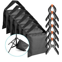 Neewer 6 Black Sandbag with 6 Backdrop Spring Clamp for Studio Light Stands