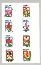 Grenada (Grenadines) #1144-1153 Orchids, Expo 90 8v & 2v S/S Imperf Proofs