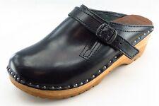 Troentorp Size 38 Medium (B, M) Black Mules Shoes Leather Women
