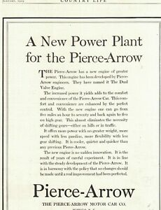 1919 Pierce Arrow New Power Plant Original ad - From Country Life