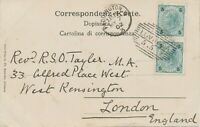 """ÖSTERREICH """"LOVRANA"""" (Küstenland = Lovran, Kroatien) klar 1902 """"PADDINGTON.W / 3"""
