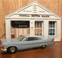 JOHAN 1958 PLYMOUTH  2 DR HT WHITE/BLUE 1/25 SCALE PROMO FRICTION NO BOX
