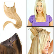 Halo Remy Elastic in Invisible Wire 100% Human Hair Extensions Full head 30INCH