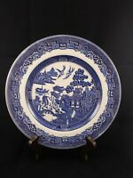 "Johnson Brothers Willow Blue 10 1/4"" Dinner Plate Blue and White England"