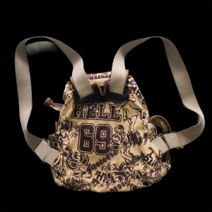 """Vintage Hysteric Glamour Mini  Backpack Canvas And Leather Size 10.5 x 8.5 """""""