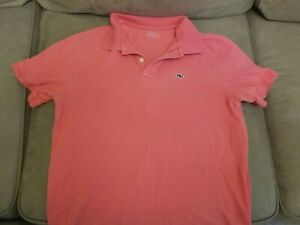 Vineyard Vines Youth Large Pink Polo