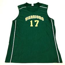 VINTAGE Russell Warriors Basketball Jersey Size Extra Large Green Tank Top Shirt