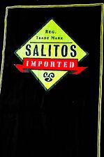 Salitos Bier Badelaken, Strandtuch, Saunatuch, schwarz, sehr edel..