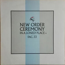 "NEW Order/Joy Division-ceremony 12"" PE (factory)"