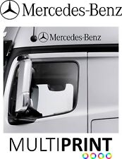 2 x Mercedes Lorry Door Truck Vinyl Sticker Decal Cab HGV Actros FREE P&P LOR19