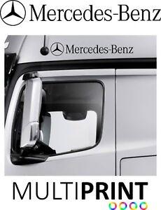 2 x Mercedes Lorry Door Truck Vinyl Sticker Decal Cab HGV Actros FREE P&P LOR19