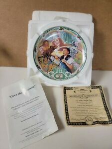 """Vtg 1993 Wizard of Oz Over the Rainbow Musical Knowles Collector's Plate 7.5"""""""