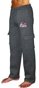 Mens Fleece Active Sweatpants Running Athletic 5 Pockets Pants