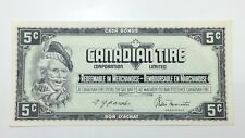 1974 Canadian Tire 5 Five Cents CTC-S4-B1-AM Circulated Money Banknote E122