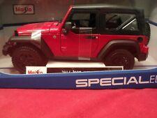 "Maisto 2014 Jeep Wranger Willys"" 1/18 scale  NIB 2019  release red exterior"