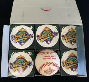 One Dozen (12) Rawlings 1996 Official World Series Baseballs Mint in Orig Boxes