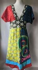DESIGUAL Womens A-Line Dress XL Multicoloured Cotton