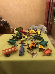 Britains Farm Tractors And Attachments Spares Or Repairs Vintage Large Lot