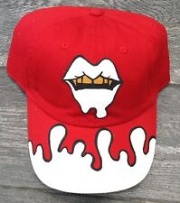 CUSTOM HAND PAINTED FABOLOUS SUMMERTIME SHOOTOUT 2 DAD HAT CAP BY YAMO RED