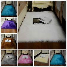Shaggy Faux Sheepskin Fur Area Rug Large Soft Fluffy Mat Bedroom Carpet Washable