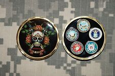 NEW Challenge Coin US Military Operation Enduring Freedom OEF Skull