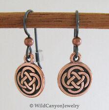 *Hypoallergenic Niobium Earwires* Copper Celtic Knot Earrings