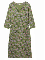Ex White Stuff Green Polly Floral Flower Pocket Tunic Dress Size 8 (OR3.183)