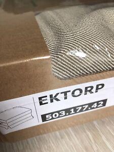 Brand New Ikea Cover for Ektorp Footstool in Nordvalla Dark Beige 503.177.42