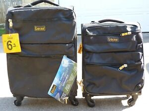NWT LUCAS 2 piece set ULTRA LIGHT spinner luggage many pockets