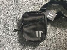 Mens  Canvas Cross Over Shoulder Bag  11 Degrees Brand New Man Bag Charcoal