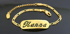 NANNA - Bracelet With Name - 18ct Yellow Gold Plated - Gifts For Her