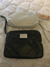 2 Small Wrist Bags. Nwt. Black And Silver. Florelli