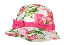 MaxiMo Topfhut Mädchen Hut Fischerhut Schleife Tulpen Weiß Pink Gr. 51 53 55 NeU