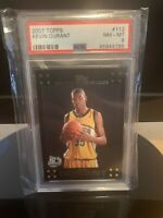 2007 Topps Kevin Durant RC PSA 8 Rookie Card Black Variant Brooklyn Nets