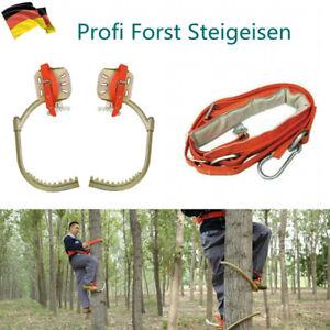Forst Steigeisen Baumsteigeisen Baumpflege Baumklettern mit Sicherheitsband DHL