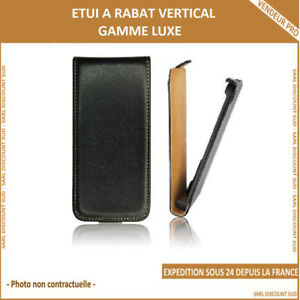 ETUI LUXE RABAT POUR APPLE IPHONE 6+ 6s+ NOIR
