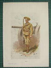 1900 BOER WAR ERA MILITARY PRINT ~ FIELD GUN & SOLIDER ~ JOHN CHARLTON