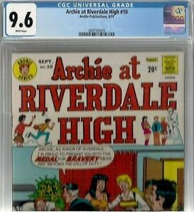 ARCHIE AT RIVERDALE HIGH #10 CGC 9.6 White WORLDS HIGHEST GRADE Betty & Veronica