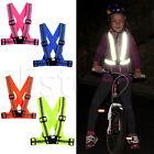 Kids Adjustable Safety Security Visibility Reflective Vest Gear Stripes Jacket