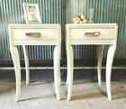 Vintage+PAIR+of+Painted+Nightstands%2C+Side+Tables%2C+End+Tables+with+drawers