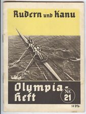 GERMANY Olympische Spiele Olympic Games 1936 Olympia Heft nr. 21 Rowing & Canoo