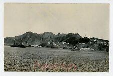 RPPC Postcard Aden 1926 Yemen Italian British Cruiser Cornwall Photograph Photo