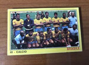 Figurina Squadra Brasile - Campioni Dello Sport 1970/71 - Recuperata