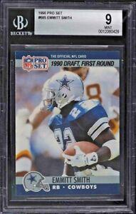 1990 Pro Set Emmitt Smith Dallas Cowboys ROOKIE RC #685 BGS 9 MINT