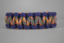 550 Paracord Survival Bracelet Cobra Purple/Rainbow Camping Military Tactical