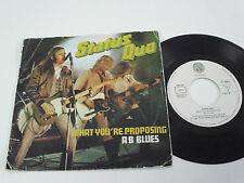 "STATUS QUO What You're Proposing -1980 PORTUGAL 7"" single - Portuguese release"